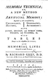 Memoria Technica: or, a New method of artificial memory ... The fourth edition, corrected and improv'd