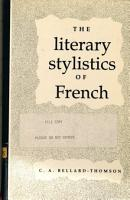 The Literary Stylistics of French PDF