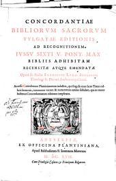 Concordantiae Bibliorum Saacrorum Vulgatae Editionis
