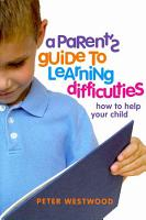 A Parent s Guide to Learning Difficulties PDF