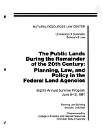 The Public Lands During the Remainder of the 20th Century PDF