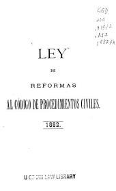 Ley de reformas al Código civil
