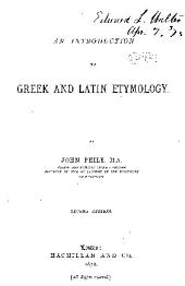 An Introduction to Greek and Latin Etymology
