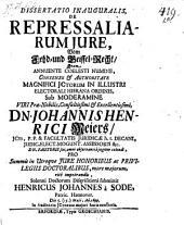 Dissertatio ... de repressaliarum jure, Vom Fehd- und Geissel-Recht. Resp. Henricus-Johannes a Sode