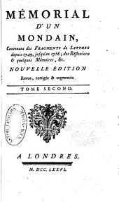 Mémorial d'un Mondain: Volume2