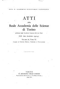 Atti della Reale Accademia delle scienze di Torino  Classe di scienze morali  storiche e filologiche PDF