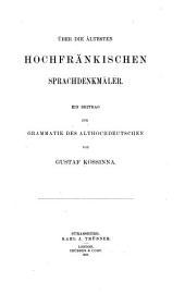 Quellen und Forschungen Zur Sprach-und Culturgeschichte Der Germanischen Völker