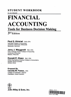 Student Workbook to accompany Financial Accounting  3rd Edition PDF