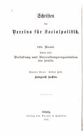 Verfassung und Verwaltungsorganisation der Städte: Bd., 5. H. Die Hansestädte; mit Beiträgen von Geert Seelig und Johannes Bollmann