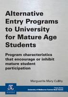 Alternative Entry Programs to University for Mature Age Students PDF