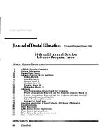Journal of Dental Education PDF