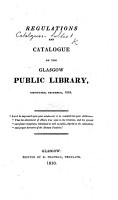 Regulations and Catalogue of the Glasgow Public Library PDF