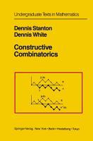 Constructive Combinatorics PDF