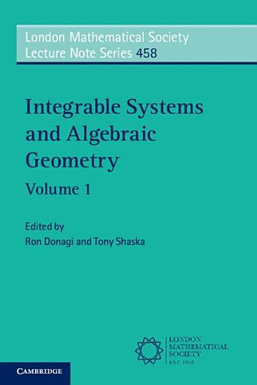 Integrable Systems and Algebraic Geometry  PDF