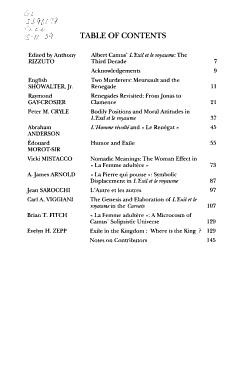 Albert Camus  L exil Et Le Royaume  the Third Decade PDF