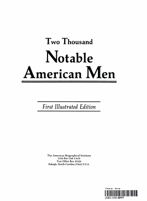 2000 Notable American Men