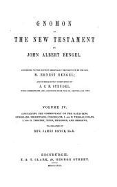 Gnomon of the New Testament: Volume 4