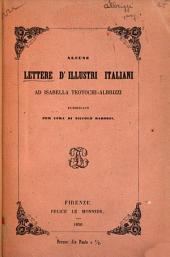 Alcune lettere d'illustri italiani ad Isabella Teotochi-Albrizzi pubblicate per cura