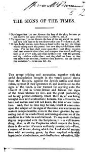 The Signs of the Times. [Signed: E. I., I.e. Edward Irving.]