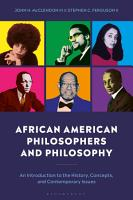 African American Philosophers and Philosophy PDF