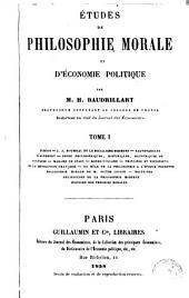 Études de philosophie morale et d'économie politique: Volumes1à2