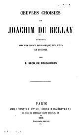 Oeuvres choisies ...: publiées avec une notice biographique
