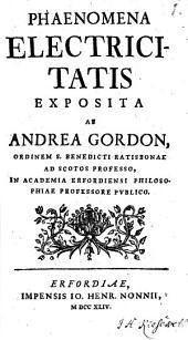 Phaenomena electricitatis