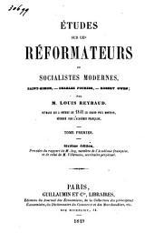 Études sur les réformateurs, ou, Socialistes modernes ...