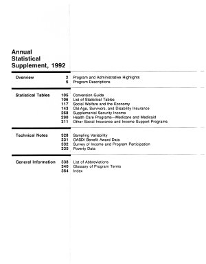 Annual Statistical Supplement     to the Social Security Bulletin