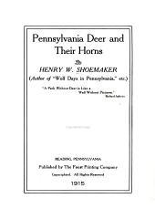 Pennsylvania Deer and Their Horns