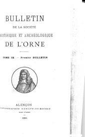 Bulletin de la Société historique et archéologique de lO̕rne: Volumes9à10