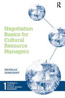 Negotiation Basics for Cultural Resource Managers PDF