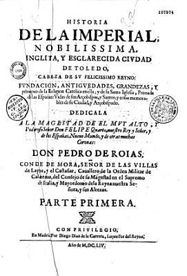 La Historia de la imperial  nobilissima  inclita y esclarecida ciudad de Toledo    PDF
