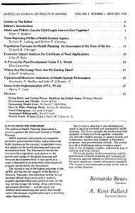 American Journal of Health Planning PDF