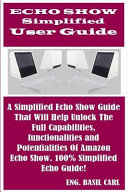 Echo Show Simplified User Guide PDF