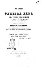 Notizia sulla Pachira Alba della famiglia delle bombacee letta nella tornata ordinaria del 5 marzo 1843 della I. e R. Accademia de' Georgofili dal socio ordinario Filippo Parlatore