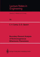 Boundary Element Analysis of Nonhomogeneous Biharmonic Phenomena