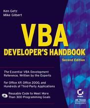 VBA Developer s Handbook PDF
