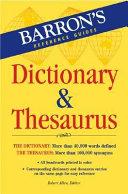 Barron s Dictionary   Thesaurus PDF