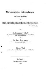 Morphologische Untersuchungen auf dem Gebiete der indogermanischen Sprachen: Bände 1-3
