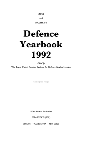 Rusi and Brassey s Defence Yearbook  1992 PDF