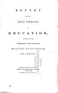 Report from the Select Committee on Education PDF