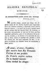 Alarma española. Romance [in verse].