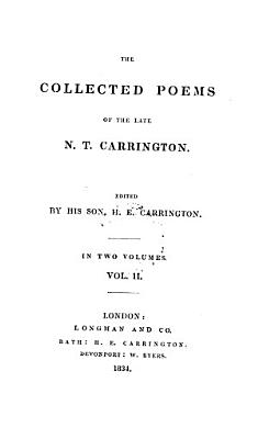 The Collected Poems of the Late N T  Carrington