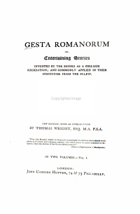 Gesta Romanorum  Or  Entertaining Stories Invented by the Monks as Their Fire side Recreation