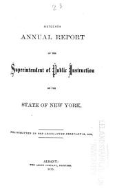 Annual Report of the Superintendent of Public Instruction, of the State of New-York: Volume 16