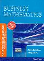 Business Mathematics  For Universities and Autonomous Colleges of Odisha PDF