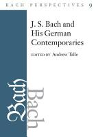 Bach Perspectives  Volume 9 PDF