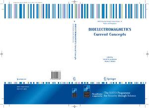 Bioelectromagnetics Current Concepts PDF