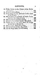 """The Letters of Junius: """"Stat Nominis Umbra."""""""